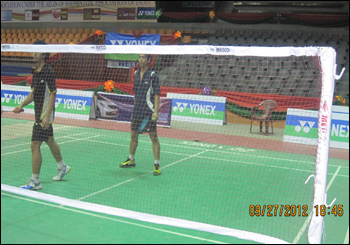 METCO Badminton net,Pole Refree CHairs used for Nationals 2012-2013